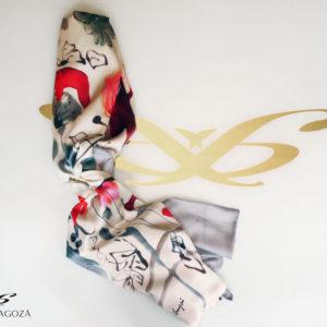 Echarpe Artemisa de lujo estampado con pinturas originales de autor