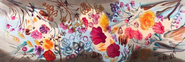 Echarpe de seda natural mujer. Alta calidad. Diseño exclusivo.