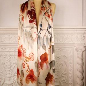 Chal de seda natural para mujer elegante